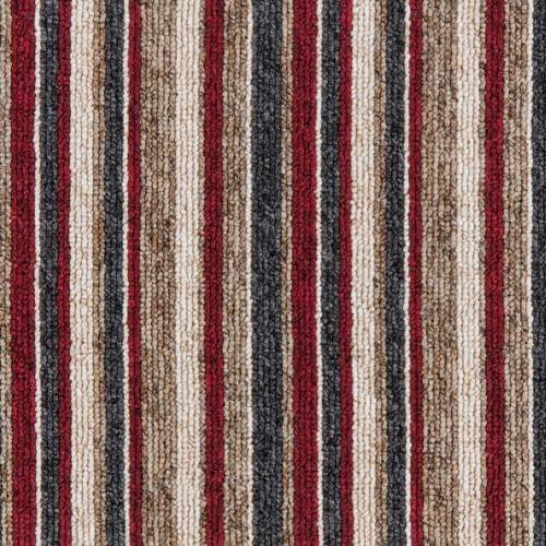 Gala Stripe, colour Red.